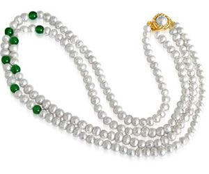 Surat Diamond Pearl Chimera Necklace Sn32
