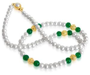 Surat Diamond Pearl Royal Grace Sn39 Necklace Sn39