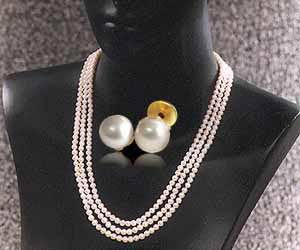 Surat Diamond Pearl Sweet Surprises Necklace Sn396
