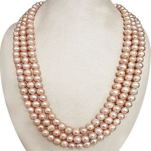 Surat Diamond Triple Pearl Delight Necklace Sn618