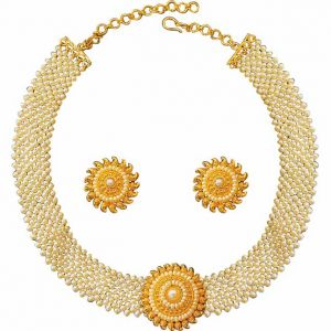 Surat Diamond Pearl Pretty Woman Set Necklace Sp126