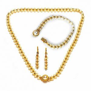 Surat Diamond Pearl Hypnotize Necklace Sp84