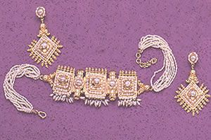 Surat Diamond Pearl Shining Beauty Necklace Sp93
