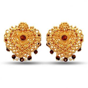 Surat Diamond Pearl Bewildering Blingers Earrings Se38