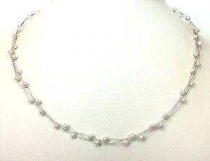 Surat Diamond Pearl Ray Necklace Sn149