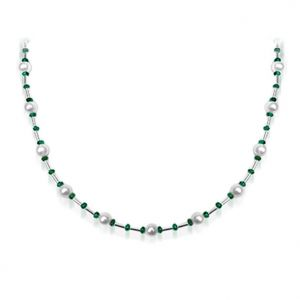 Surat Diamond Pearl Gorgeous Girl - Necklace Necklace Sn201
