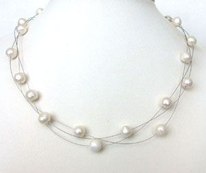 Surat Diamond Pearl Burnishing Beauty Necklace Sn207