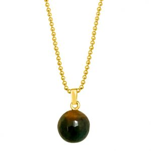 Surat Diamond - Simple Big Tiger Eye Ball Pendant With Chain- Sds158