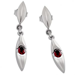 Surat Diamond - Adoration- Fine Garnet Earring On Silver- Sds85