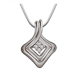 Surat Diamond Mystery Of Life -real Diamond & Sterling Silver Pendant With 18 In Chain Sdp153