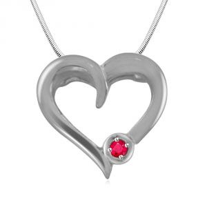 Surat Diamond Piece Of My Heart -real Diamond & Sterling Silver Pendant With 18 Inch Chain