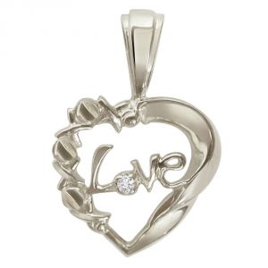 Surat Diamond - Pure Love Magic Sterling Silver Pendant -sdp25