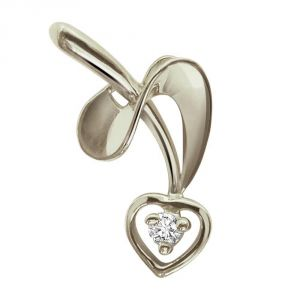 Silver Pendant Sets - Surat Diamond - Twisted Love Sterling Silver Pendant -SDP26