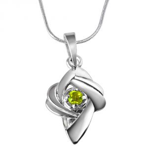 Surat Diamond Crazy Daisy Peridot & Sterling Silver Pendant With 18 In Chain Sdp327