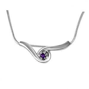 Surat Diamond Sleeping Beauty Amethyst & Sterling Silver Pendant With 18 In Chain Sdp333