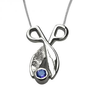Surat Diamond Amethyst Beautifully Set In Sterling Silver Pendant With 18 Inch Chain