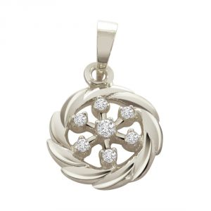Surat Diamond - Royal Twist Sterling Silver Pendant -sdp35
