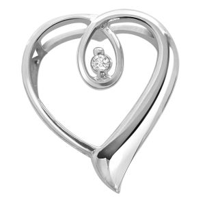 Surat Diamond - Heart Queen Sterling Silver Pendant -sdp38