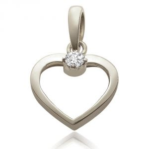 Surat Diamond - Love Cage Sterling Silver Pendant -sdp40
