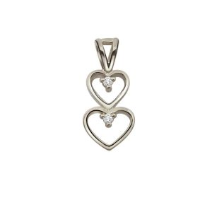 Surat Diamond - Magical Heart Sterling Silver Pendant -sdp41
