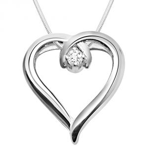Surat Diamond - Global Love Sterling Silver Pendant -sdp47