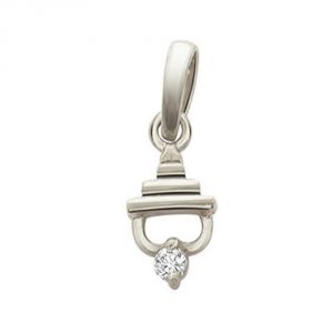 Surat Diamond - Temple Beauty Sterling Silver Pendant -sdp63