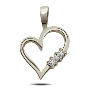 Surat Diamond - White Beauty Sterling Silver Pendant -sdp79