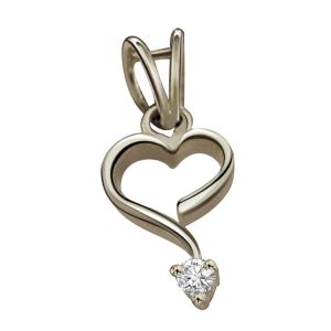 Surat Diamond - Hearty Surprise Sterling Silver Pendant -sdp87