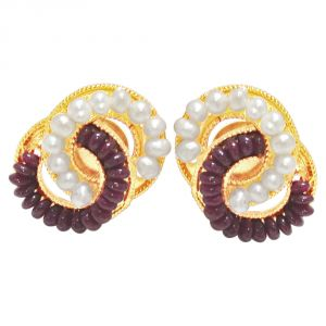 Vipul,Oviya,Soie,Surat Diamonds Pearl Earrings - Surat Diamond Luminous Surprise Earrings SE76