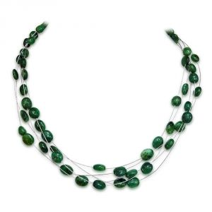 Surat Diamond Emerald Necklace - Sn136 Sn136