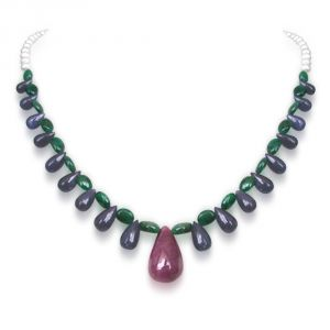 Gemstone Necklaces - Surat Diamond Svelte Splendor SN217