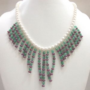 Gemstone Necklaces - Surat Diamond Star In The Making SN295
