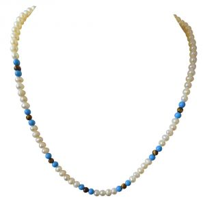 vipul,oviya,soie,surat diamonds Pearl Necklaces - Surat Diamond Blue Lagoon SN401