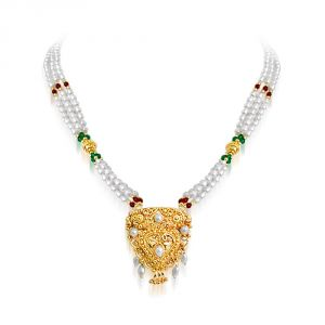 oviya,soie,surat diamonds Pearl Necklaces - Surat Diamond Elegance SNP19