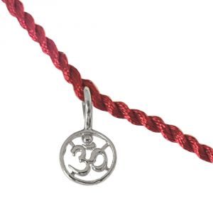 Surat Diamond Delicate Om Shaped Sterling Silver Rakhi For Brothers (code - Snsr11)