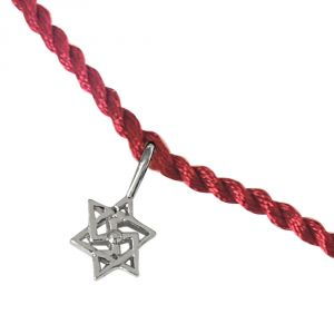 Rakhis & Gifts (India) - Surat Diamond Shatkonam Swastik Sterling Silver Rakhi for Brothers SNSR12