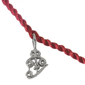 Rakhis & Gifts (India) - Surat Diamond Trishul Shaped Sterling Silver Rakhi for Brothers SNSR13