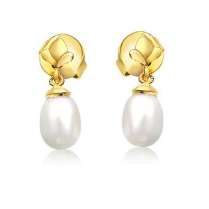 Rcpc,Jpearls,Surat Diamonds,Ag Women's Clothing - Surat Diamond Pearly Flower Earrings