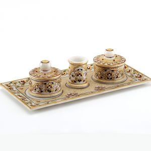 Marvel In Marble Gold Embossed Utility Tray Set 76
