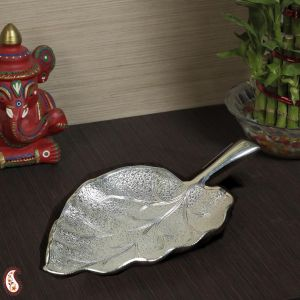 Silverware - Silver plated brass leaf design utility Tray