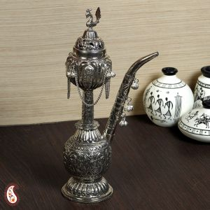 Silver Handicrafts - Exquisite White Metal Antique Miniature Hookah
