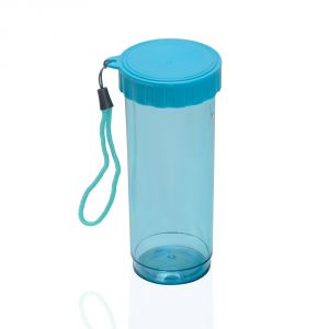 Wide Mouth Screw Lid High End Blue Acrylic Water Bottle