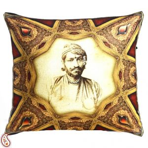 Royal Rajastani King Digital Print Poly Velvet Cushion Covers