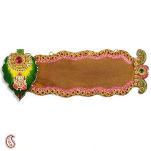 Shree Ganesh Name Board With Wood And Clay Art Work