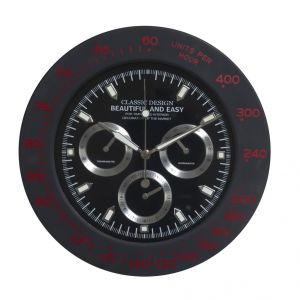 Home Decoratives - Amazing Black Round Analog Wall Clock