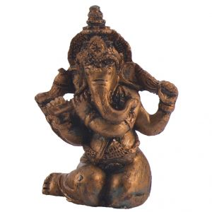 Cute Ganesha Showpiece Sitting On His Knees