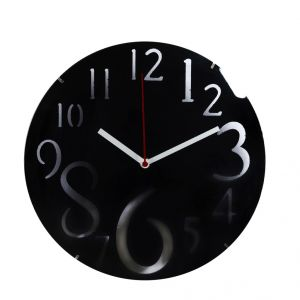 Dashing Black Huge Numeral Wall Clock