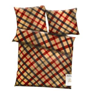 Multicolor Polyester Checkered Print Double Bed Ac Quilt