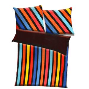 Multicolor Polyester Striped Print Double Bed Ac Quilt