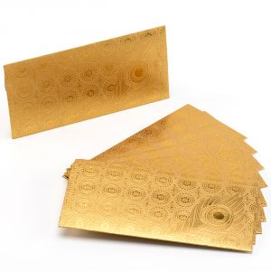Gold Shade Self Contemporary Print Handmade Envelope (pack Of 10)- En1705